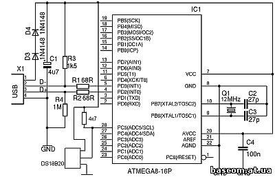 USB термометр на ATmega8 - Мои статьи.